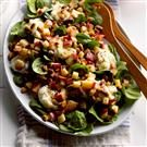 Warm Apple & Pistachio Spinach Salad