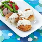 Crispy Scallops with Tarragon Cream