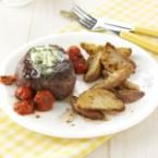 Basil-Butter Steaks with Roasted Potatoes Photo