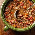 Lentil & Chicken Sausage Stew