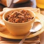Ground Beef Baked Beans Photo