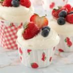 Berry-Topped White Cupcakes Photo