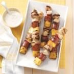 Sausage & Chicken Kabobs Photo