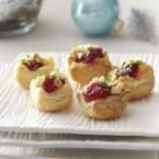 Brie Cherry Pastry Cups Photo
