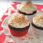 Red Velvet Cupcakes with Coconut Frosting Photo