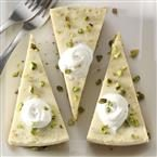 Pistachio Cardamom Cheesecake