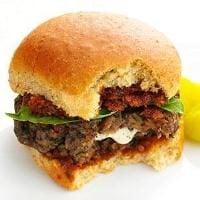 Mushroom Meatball Parmigiana Sandwiches Photo