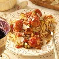 Turkey Meatballs and Sauce Photo