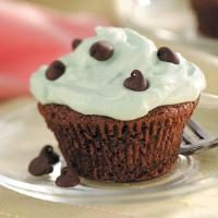 Mint Brownie Cupcakes