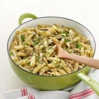 Delish Pesto Pasta with Chicken Marsala Photo