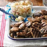 Grilled Pork with Pear Salsa Photo