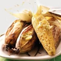 Grilled Corn with Chive Butter Photo