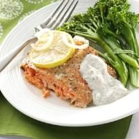 Salmon with Creamy Dill Sauce Photo