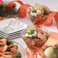 Gazpacho Shrimp Appetizer Photo