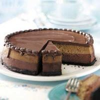 Layered Mocha Cheesecake