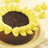 Peeps Sunflower Cake Photo