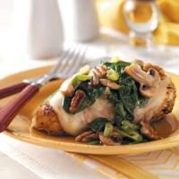 Spinach and Mushroom Smothered  Chicken Photo