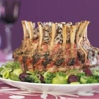 Crown Roast with Wild Rice Stuffing Photo