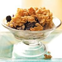 Baked Blueberry & Peach Oatmeal Photo