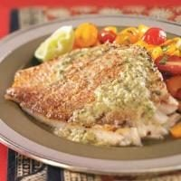 Grilled Snapper with Caper Sauce Photo