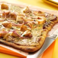 Barbecued Chicken Pizzas Photo