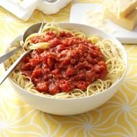 Homemade Meatless Spaghetti Sauce Photo