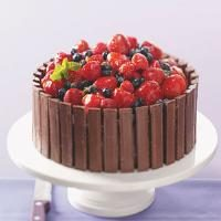 Chocolate Fruit Basket Cake Photo