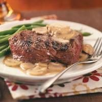 Grilled Steaks with Mushroom Sauce Photo