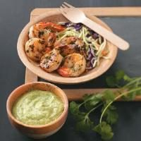 Grilled Shrimp with Cilantro Dipping Sauce Photo