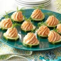 Salmon spread taste of home for Salmon mousse canape