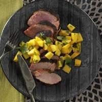 Spicy Pork Tenderloin with Mango Salsa Photo