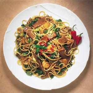 Stir-Fry Beef & Spinach with Noodles