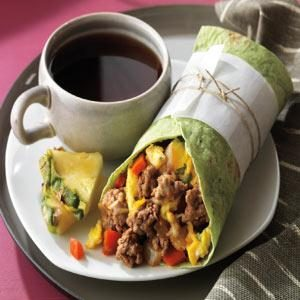 Beef Breakfast Burrito Recipe