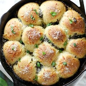 Parmesan Pesto Skillet Rolls Recipe