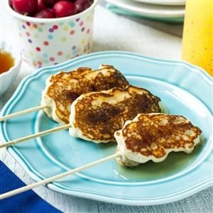 Breakfast Sausage Pancake Pops Recipe