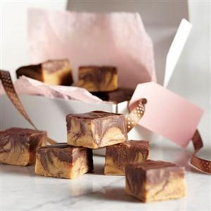 Chocolate Peanut Butter Swirled Fudge Recipe