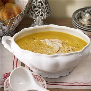 Acorn Squash & Pear Soup Recipe