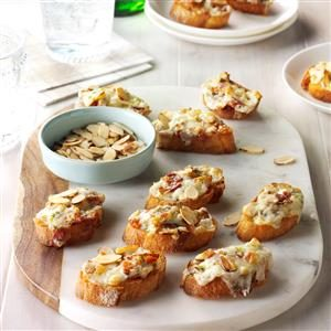 Almond-Bacon Cheese Crostini Recipe