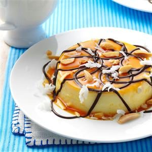 Almond Coconut Flans Recipe