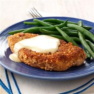 Almond Pork Chops with Honey Mustard Recipe