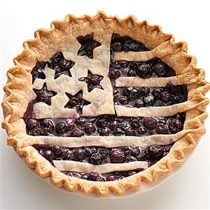 Menu #4 Dessert: American Flag Berry Pie