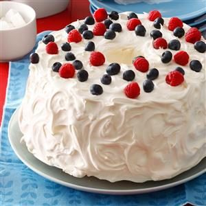 Angel Berry Tunnel Cake