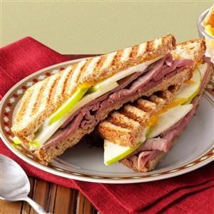 Apple-Beef Panini Recipe