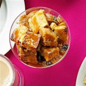 Apple Bread Pudding with Caramel Sauce Recipe