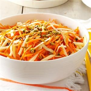 Apple-Carrot Slaw with Pistachios Recipe