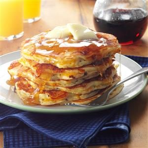 Apple-Cheddar Pancakes with Bacon Recipe