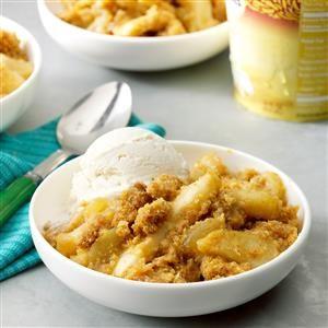Apple Corn Bread Crisp