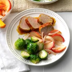 Apple-Onion Pork Tenderloin Recipe