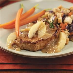 Apple Pork Chops for Two Recipe