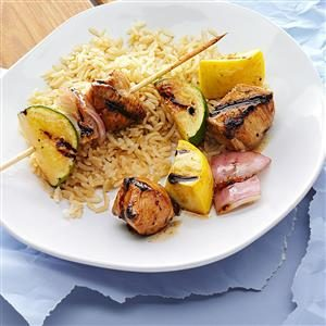 Apricot-Glazed Chicken Kabobs Recipe photo by Taste of Home